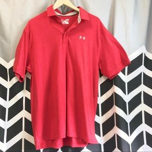 Men's XL loose fit Under armour men's polo red G